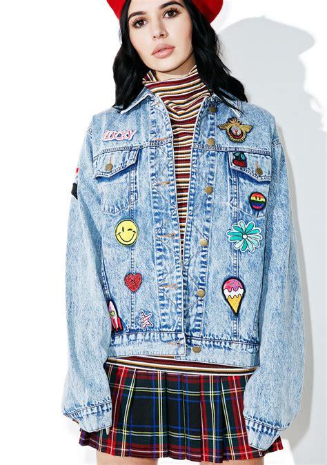 Patch Denim scout patch denim jacket dolls kill