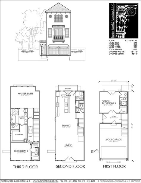 Contemporary Townhouse Plans by Townhouse Plan E3112 A1 1 Develop It Floor