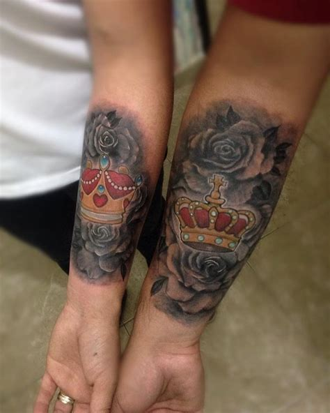 matching rose tattoos 50 crown ideas for and 2018