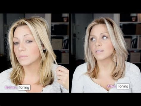 how to tone brassy hair into cool toned blonde in 15