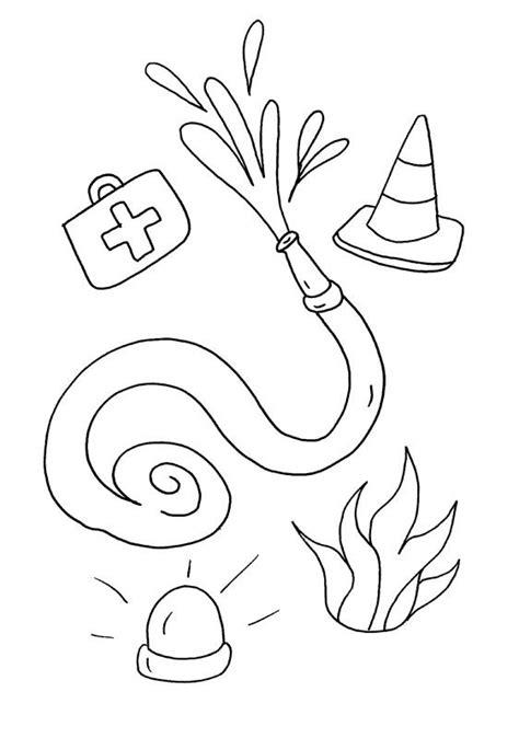 imagenes para colorear bombero utensilios de bomberos dibujo para colorear e imprimir
