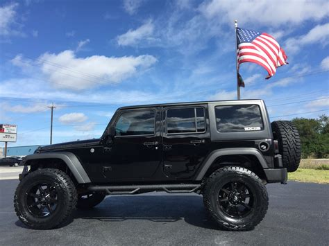 jeep 2016 lifted 2016 jeep wrangler unlimited rubicon custom lifted leather