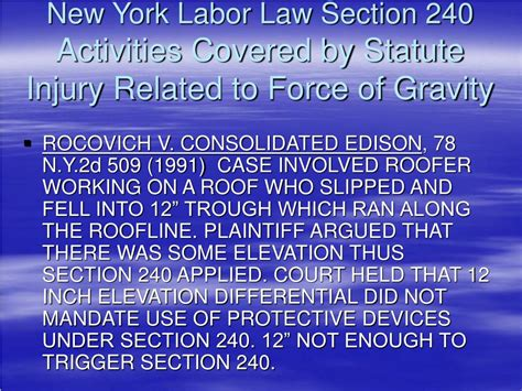 law section ppt new developments in new york labor law sections 200