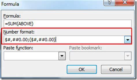 word 2010: insert tables & formulas