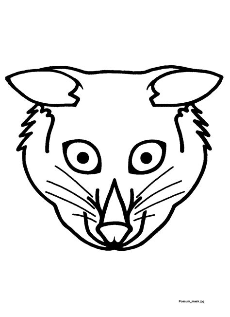 printable possum mask pinterest the world s catalogue of ideas