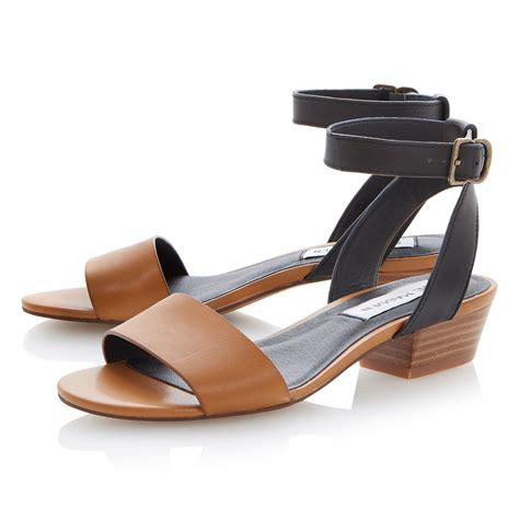 Steve Madden Heeled Sandals by Steve Madden Terrance Leather Block Heel Sandals In Black Lyst