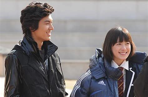 film lee min ho dan koo hye sun a day behind the scenes of boys before flowers