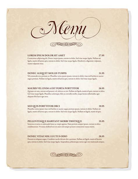 Speisekarte Design Vorlage Kostenlos Die Speisekarte Visitenkarte Eines Restaurants Leinenlos