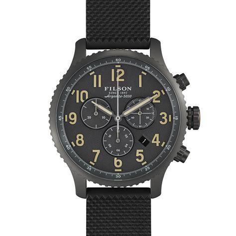 filson x shinola watches the awesomer