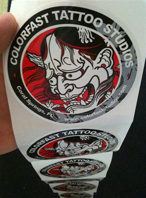 colorfast tattoo illustration vinyl roll stickers