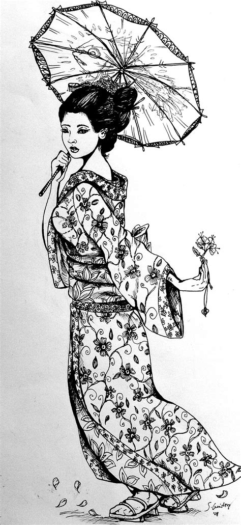 geisha girl tattoo design free coloring pages of geisha