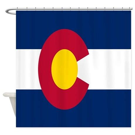 colorado state colors colorado state flag shower curtain by cindysstuff