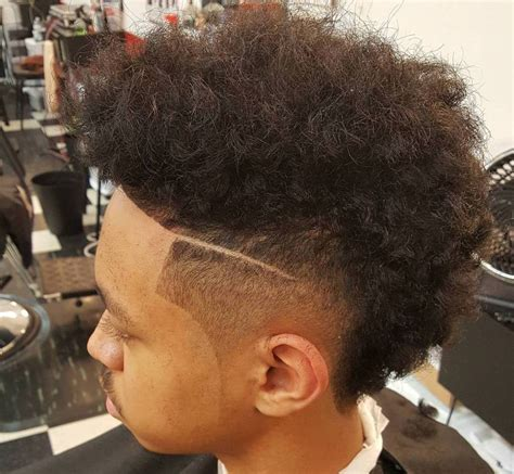 blowout hairstyles for black men a line in the side mohawk haircut 15 curly short long mohawk hairstyles