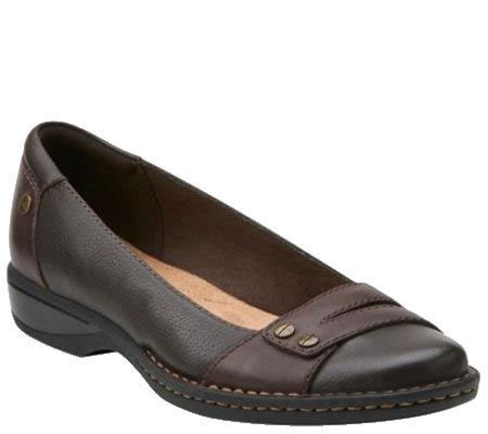 qvc clarks shoes clarks leather slip on shoes pegg abbie qvc