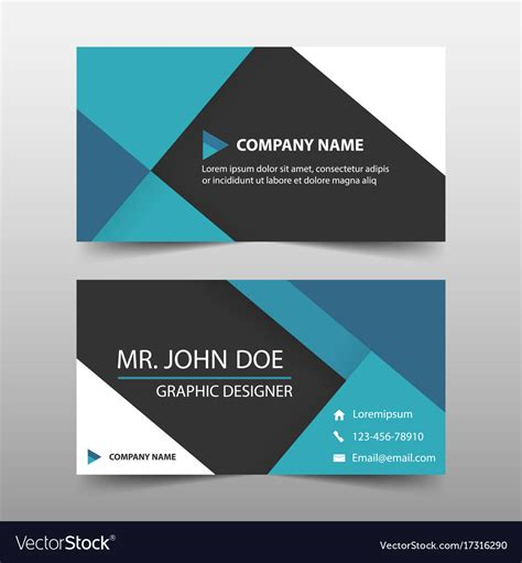 free name card template vector blue corporate business card name card template vector image