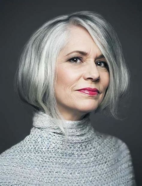 hairstyles for gray hair over 60 2018 2019 short and modern hairstyles for stylish older