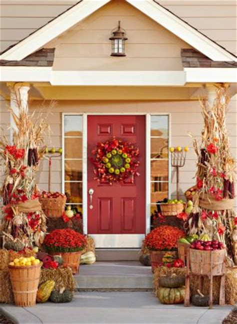 fun themes  fall door decorations midwest living
