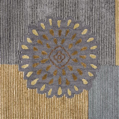 Wool Runner Rugs Harbor Mums Pattern Wool Runner Rug In Blue Brown 2 6 Quot X 8