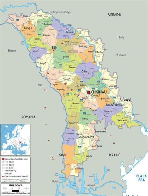 moldova map political map of moldova ezilon map