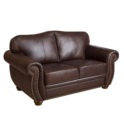 abbyson leather sofa abbyson living macina 2 piece leather sofa set in dark