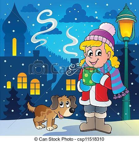 Imagenes De Invierno Caricatura | vector clip art de persona imagen 2 invierno