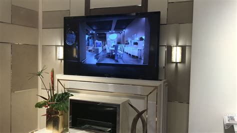 fireplace tv lift tv lift cabinets that disguise your electronics as furniture