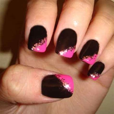 easy nail art black and pink online courses nail technicians black and pink nail