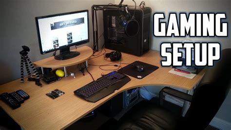 how to make a gaming setup rev s gaming rig setup video 2014 youtube