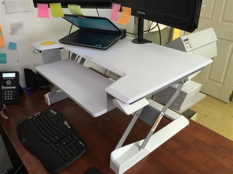 How To Raise A Desk by Review Sit Stand Desktop Workstation Will Transform Your Desk