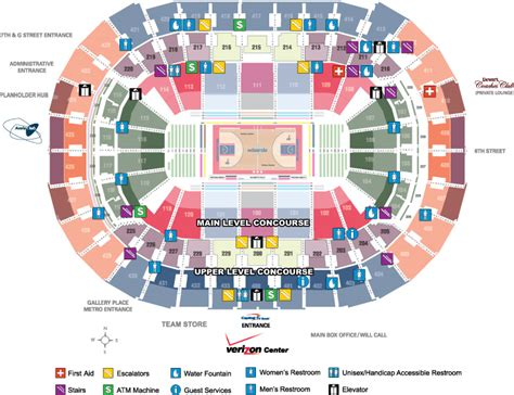 verizon center floor plan verizon center facts washington wizards