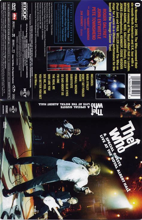 The Who Special Guests Live At The Royal Albert the who live at the royal albert dvd