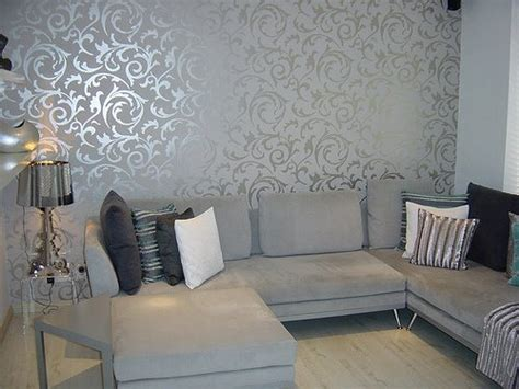 grey wallpaper living room post on brunch at