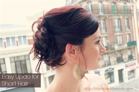 quick and easy updo hairstyles for short hair 15 hairstyles you can do in less than 5 minutes ma