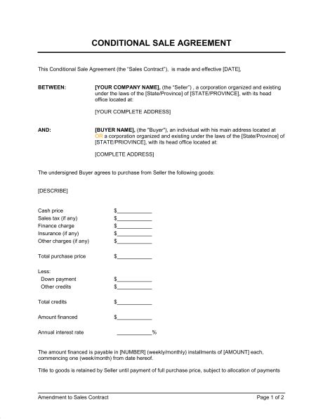 understanding the open boat conditional sale agreement template word pdf by