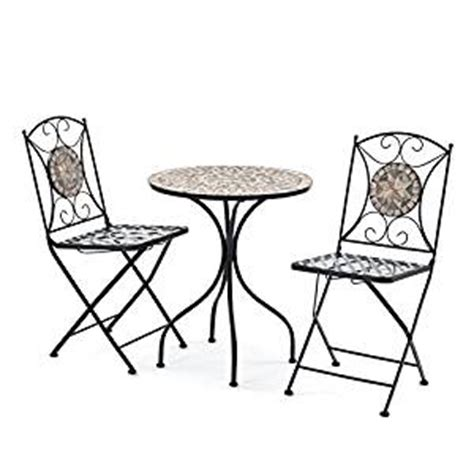 2 person 60cm algiers mosaic bistro garden furniture set