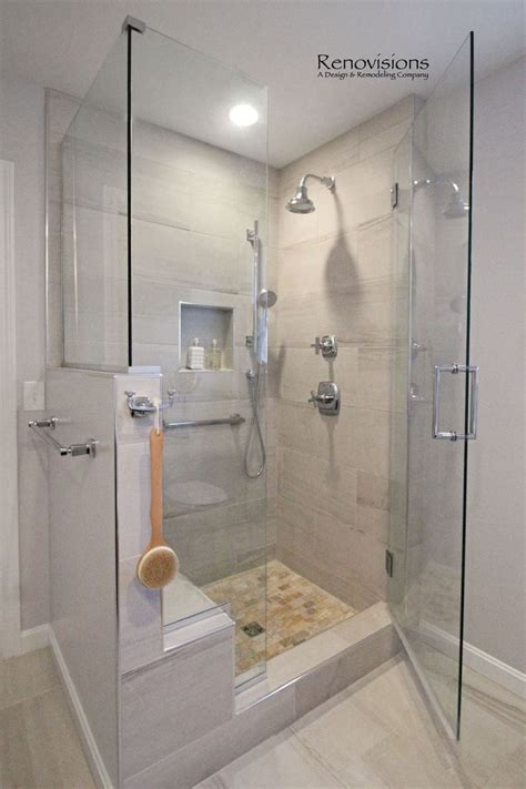 Bathroom Glass Shower Ideas A Completed Master Bathroom Remodel By Renovisions Walk