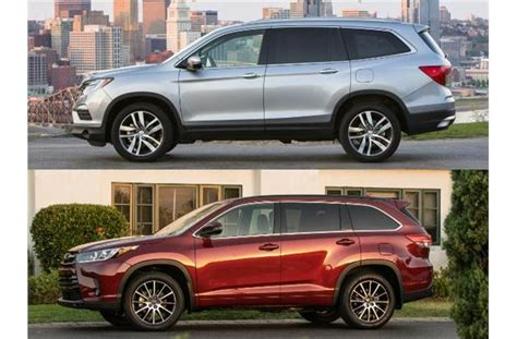 Compare Honda Pilot And Toyota Highlander 2017 Honda Pilot Vs 2017 Toyota Highlander To