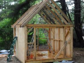 roof framing outdoor building sheds