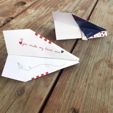 printable valentine paper airplane instant download diy valentine paper airplane paper