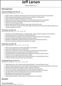 administrative assistant resume resumesles net
