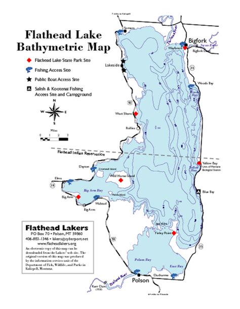 lakes in montana map bathymetric map of flathead lake flathead lake mt mappery