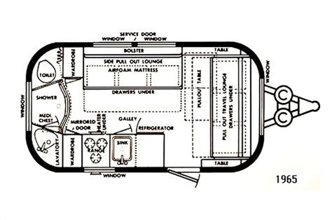 vintage airstream floor plans the vintage airstream 1965 caravel 17 foot travel trailer