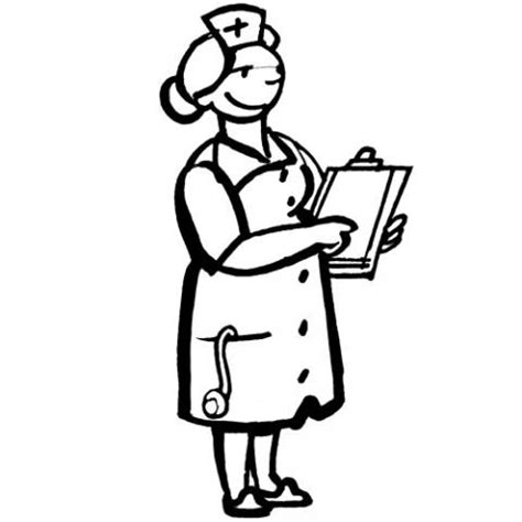 imagenes a blanco y negro para niños dibujo de una enfermera para colorear con los ni 241 os