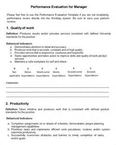 evaluation form templates word performance evaluation 9 free documents in pdf