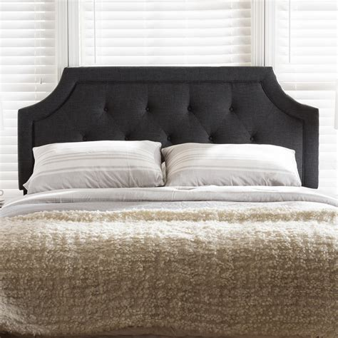 gray king headboard baxton studio mars modern and contemporary dark grey