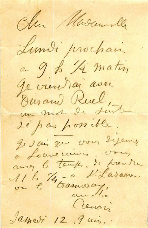 ba renoir espagnol 383656081x renoir pierre auguste autograph letter signed unframed for sale lettres ecritures