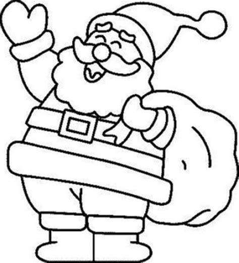 dibujos de navidad para colorear faciles imagen de santa claus papa noel con regalos de navidad