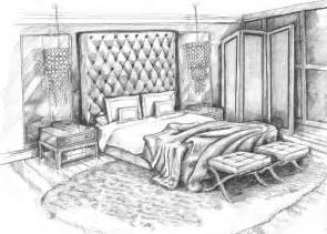 bedroom design drawings pencil sketch art master bedroom concept design visual by