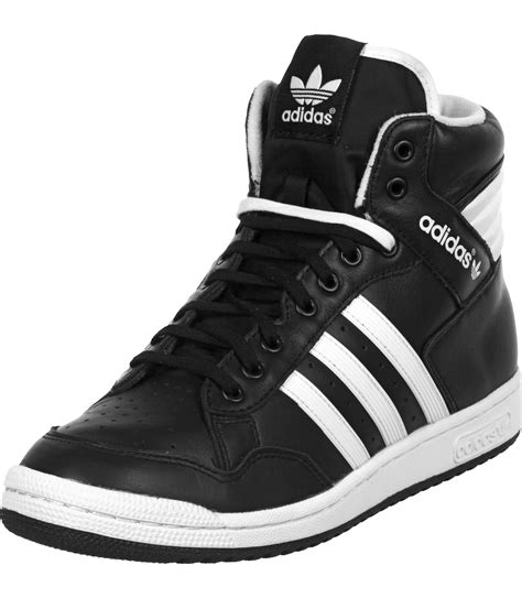 adidas pro conference hi shoes black white