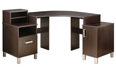 Modern Desk With Storage Contemporary Corner Computer Desk Office Furniture